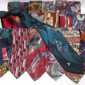 NEW Group of 6 Men's Name Brand Silk SHORT Ties